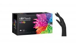 VIVID SOFT rukavice nitril, BOURNAS MEDICALS, - XS - černé - zvětšit obrázek