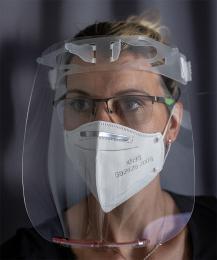 Ochranný obličejový plexi štít - zvětšit obrázek